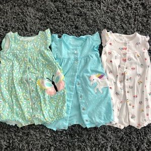 Carter's 18 month set of 3 summer rompers for girl